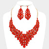 Red Statement Crystal Necklace Set | 338730