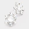 Crystal Flower Stud Earrings | 89163