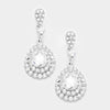 Little Girls Crystal Rhinestone and Teardrop Earrings | 354321