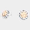 Neutral Color Stud Earrings 0.5"