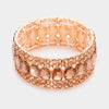 Peach Emerald Cut Stretch Bracelet | 336940