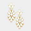 AB Crystal Oval Cluster Vine Pageant Earrings on Gold | 366849
