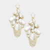 Marquise Crystal Dangle Earrings on Gold | 343131
