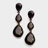 Black Triple Teardrop Earrings | 312301