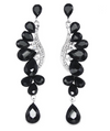 Long Black Crystal Earrings | LMB-Black