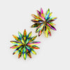 Multi Color Crystal Flower Stud Earrings | 410640