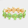Green Crystal Bubble Stretch Bracelet on Gold | 352166