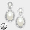 Pearl Wedding Earrings with Crystal Accents | CLIP ONS | 314640