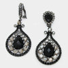 Black Chandelier Earrings | Clip On | 418354