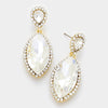 Little Girls Crystal Marquise Earrings on Gold | 322707