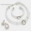 Wedding Jewelry | White Teardrop Pearl Necklace Set | 297452