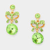 Little Girls Green Drop Earrings | 199123