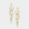 AB Crystal Long Dangle Earrings on Gold | 294869
