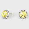 Yellow Stud Earrings 0.5"