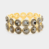 Hematite Crystal Bubble Stone Trim Stretch Bracelet | 362881