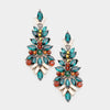 Emerald Crystal Pageant Drop Earrings | 414615