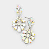 Little Girls AB Crystal Cluster Teardrop Pageant Earrings | 402710