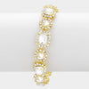 Clear Crystal Link Bracelet Gold Base | 331020