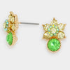 Small Green Flower Stud Earrings | 295960