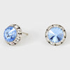 Light Blue Stud Earrings 0.5"