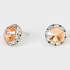 Peach Stud Earrings 0.5"