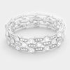 Crystal and Rhinestone Stretch Bracelet | 322524