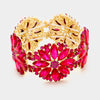 Fuchsia Flower Crystal Stretch Bracelet | 333190