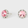 Light Rose Stud Earrings 0.5"