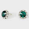 Emerald Stud Earrings 0.5"