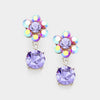 Little Girls Purple Dangle Earrings | 355062