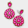 Fuchsia Pageant Earrings | Clip On | 287449