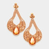 Large Chunky Cut Out Peach Crystal Teardrop Earrings | Tammy Lee's | 368874