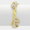 AB Rhinestone Crystal Clasp Bracelet on Gold | 336153