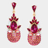 Fuchsia Cyrstal Earrings | 304662