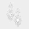 Elegant Crystal Pageant Chandelier Earrings | 250625