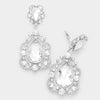 Elegant Crystal Chandelier Clip On Pageant Prom Earrings | 323891