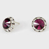 Plum Stud Earrings 0.5"