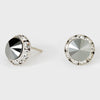 Hematite Stud Earrings 0.5"
