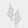 Long Crystal Statement Earrings on Silver | Bolts | 364546