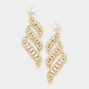 Long Crystal Statement Earrings on Gold | bolts | 364554
