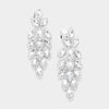 Large Crystal Leaf Clip On Earrings | 384196