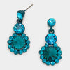 Little Girls Teal Earrings | 126463