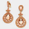 Peach Chandelier Earrings | Clip On | 418360