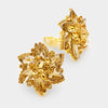 Gold Crystal Flower Clip On Earrings | 226010