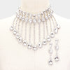 Rhinestone Crystal Teardrop Drop Prom Necklace | 419109