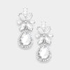 Little Girls Floral Crystal Teardrop Earrings | 383090