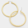 Gold Hoop Earrings | 3"