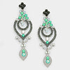 Mint Crystal Victorian Pageant Earrings | 308677