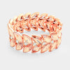 Peach Crystal Laurel Stretch Bracelet | 287397