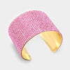 Pink Crystal Cuff Pageant Bracelet | 305252